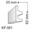 Kép 1/4 - Elite Decor Poliuretán rejtett világítás díszléc (KF-501) ütésálló