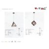Kép 3/4 - V-TAC Champion-III geometrikus függeszték (E27) pezsgőarany