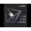 Kép 2/9 - V-TAC Champion-III geometrikus függeszték (E27) fekete