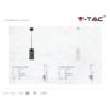 Kép 4/5 - V-TAC Sinbad fém függőlámpa (E27) - matt fehér