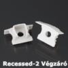 Kép 1/3 - LED Profiles Recessed-2 süllyeszthető alu profil eloxált - végzáró elem, szürke