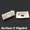 Kép 1/3 - LED Profiles Surface-3 Alumínium U profil végzáró elem, szürke