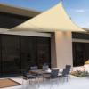 Kép 1/4 - Nortene Sunnet Kit Polyester háromszög alakú napvitorla (árnyékoló) 5 x 5 x 5 m - bézs