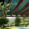 Kép 1/3 - Nortene Árnyékoló háló kerítésre pergolára, 70%-os takarás SUN-NET (4x5 méter) zöld