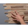 Kép 4/4 - Regul PVC falpanel - Szeletelt kő - Modern fa