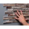 Kép 4/4 - Regul PVC falpanel - Szeletelt kő - Kis barna
