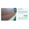 Kép 2/3 - Nortene Belátásgátló háló 100%, szintetikus pálmaháncs PRIVATEX (1.5x3 m) barna