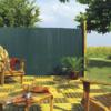 Kép 1/3 - Nortene Belátáskorlátozó 85%, műanyag nád félovál PLASTICANE (2 x 3 m) zöld