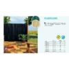 Kép 2/3 - Nortene Belátáskorlátozó 85%, műanyag nád félovál PLASTICANE (2 x 3 m) natúr