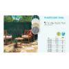 Kép 3/3 - Nortene Belátáskorlátozó 85%, műanyag nád PLASTICANE OVAL (1x3 méter) zöld