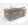 Kép 2/3 - Nortene Covertop kerti bútor takaró huzat (225x145x90cm) négyszögletes asztal + 4 szék
