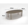 Kép 2/3 - Nortene Covertop kerti bútortakaró (230x130x70cm) ovális asztal