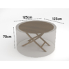 Kép 2/3 - Nortene Covertop kerti bútortakaró (125x125x70cm) kör alakú asztal