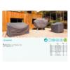 Kép 3/3 - Nortene Covertop kerti bútortakaró (125x125x70cm) kör alakú asztal