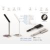 Kép 2/17 - V-TAC Asztali LED lámpa (5W) változtatható színhőmérséklet, fényerőszabályozás, vezeték nélküli töltés funkció, fehér-ezüst