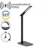 Kép 1/15 - V-TAC Asztali LED lámpa (5W) változtatható színhőm. + fényerőszabályozás, időzített kikapcs., vezeték nélküli töltés, fekete-ezüst
