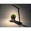 Kép 10/15 - V-TAC Asztali LED lámpa (5W) változtatható színhőm. + fényerőszabályozás, időzített kikapcs., vezeték nélküli töltés, fekete-ezüst