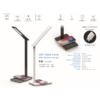 Kép 2/15 - V-TAC Asztali LED lámpa (5W) változtatható színhőm. + fényerőszabályozás, időzített kikapcs., vezeték nélküli töltés, fekete-ezüst