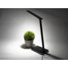 Kép 9/15 - V-TAC Asztali LED lámpa (5W) változtatható színhőm. + fényerőszabályozás, időzített kikapcs., vezeték nélküli töltés, fekete-ezüst