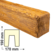Kép 1/6 - Elite Decor DecoWood Bükk-170 Rusztikus poliuretán gerenda (EQ004)