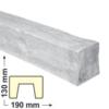Kép 1/6 - Elite Decor DecoWood Fehér-190 Modern poliuretán gerenda (ED105)