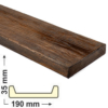 Kép 1/6 - Elite Decor DecoWood Mahagóni-190 Modern poliuretán deszka panel (ET405)