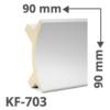 Kép 1/2 - Elite Decor Poliuretán rejtett világítás díszléc (KF-703) ütésálló