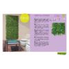 Kép 14/14 - Nortene Vertical Forest műanyag zöldfal az erdő növényeivel (100x100 cm)
