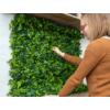 Kép 7/14 - Nortene Vertical Forest műanyag zöldfal az erdő növényeivel (100x100 cm)