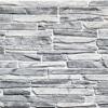 Kép 1/4 - Flexpanel PVC falburkoló lap - Keskeny, hasított kő mintás burkolólap műanyagból (szürke)