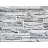 Kép 3/4 - Flexpanel PVC falburkoló lap - Keskeny, hasított kő mintás burkolólap műanyagból (szürke)