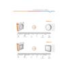 Kép 4/4 - Avide MERKUR-S IP54 mennyezeti LED lámpa, négyzet alakú (12W/4000K) grafit