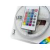 Kép 2/7 - Avide LED szalag szett beltéri: 3 méter RGB 5050-30 szalag - távirányítóval, vezérelhető + tápegység