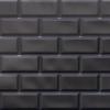 Kép 1/4 - Flexpanel PVC falburkoló lap - Metró csempe kötésben, fekete műanyag burkolat