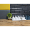 Kép 3/4 - Flexpanel PVC falburkoló lap - Metró csempe kötésben, fekete műanyag burkolat