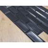 Kép 4/4 - Flexpanel PVC falburkoló lap - Metró csempe kötésben, fekete műanyag burkolat