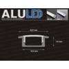 Kép 4/6 - LED Profiles ALP-001 - Aluminium U profil ezüst, LED szalaghoz, átlátszó burával