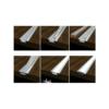 Kép 5/6 - LED Profiles ALP-001 - Aluminium U profil ezüst, LED szalaghoz, átlátszó burával