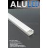 Kép 2/6 - LED Profiles ALP-002 - Aluminium U profil ezüst, LED szalaghoz, opál burával