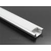Kép 1/6 - LED Profiles ALP-001 - Aluminium U profil ezüst, LED szalaghoz, opál burával