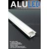 Kép 2/6 - LED Profiles ALP-001 - Aluminium U profil ezüst, LED szalaghoz, opál burával