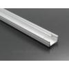 Kép 4/6 - LED Profiles ALP-002 - Aluminium U profil ezüst, LED szalaghoz, átlátszó burával