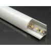 Kép 1/6 - LED Profiles ALP-006 Aluminium sarok profil ezüst, LED szalaghoz, opál burával