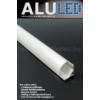 Kép 2/6 - LED Profiles ALP-006 Aluminium sarok profil ezüst, LED szalaghoz, opál burával