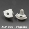 Kép 1/3 - LED Profiles ALP-006 Véglezáró alumínium LED profilhoz, szürke (6886)