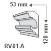 Kép 1/3 - RV-01-A Rejtett világítás díszléc - mennyezet (736)
