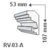 Kép 1/3 - RV-03-A Rejtett világítás díszléc - mennyezet (741)