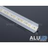 Kép 1/6 - LED Profiles ALP-006 Aluminium sarok profil ezüst, LED szalaghoz, átlátszó burával