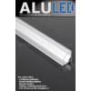 Kép 2/6 - LED Profiles ALP-006 Aluminium sarok profil ezüst, LED szalaghoz, átlátszó burával