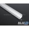 Kép 4/6 - LED Profiles ALP-006 Aluminium sarok profil ezüst, LED szalaghoz, átlátszó burával